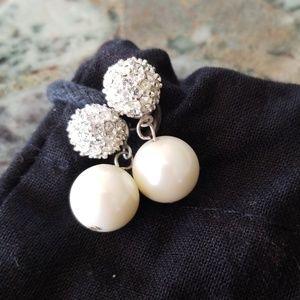 St. John Crystal and Pearl Earrings